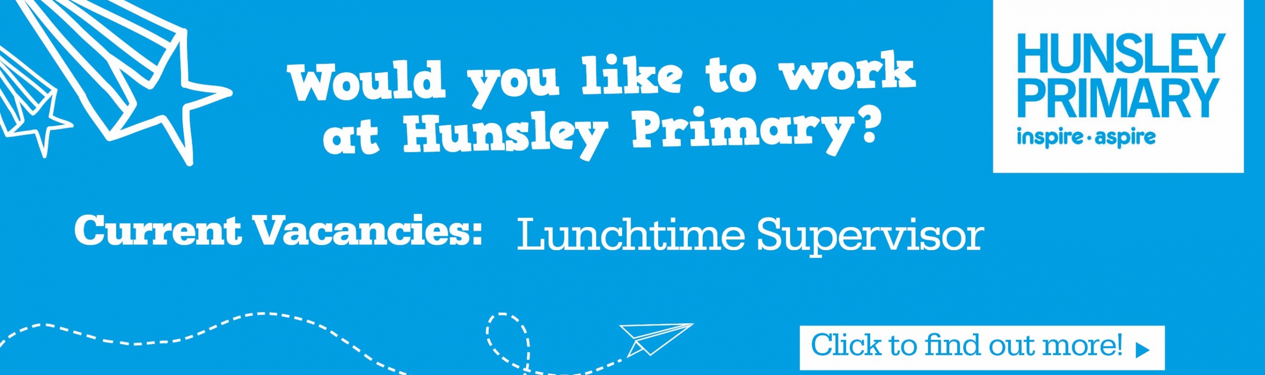 Hunsley_Primary_Banner – Current Vacancies – Lunchtime supervisor