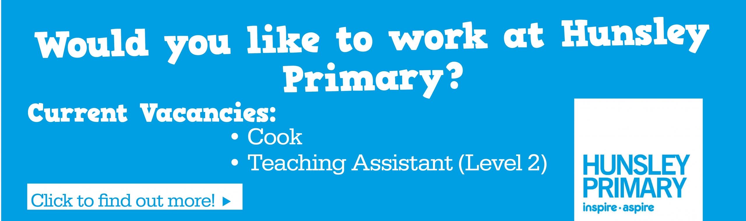 Hunsley_Primary_Banner – Current Vacancies – Cook